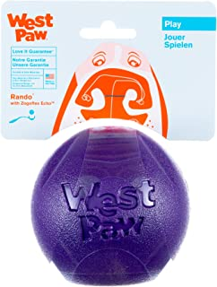 West Paw Rando Squeezy Dog Play Chew Ball Toy with Zogoflex Echo, Made in USA