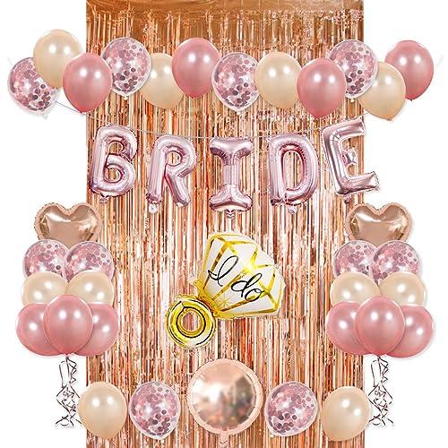 96252ccf980c Bride Party Decorations Kit- Rose Gold Foil Fringe Curtain