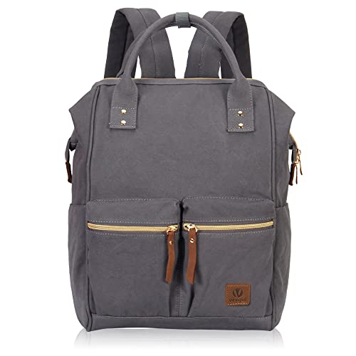 Veegul Stylish Doctor Style Multipurpose Travel Backpack Everyday Backpack for Men Women Dual Pockets Grey