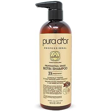 PURADOR Professional Grade Anti-Hair Thinning Biotin Shampoo