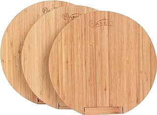 砧板 披萨板 竹制 抗菌 圆形 直立式 φ30x2厘米 ZR02 HANKEY