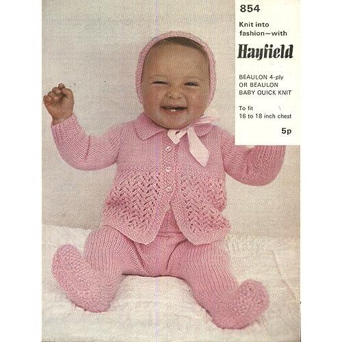 756285969 Pram Set Knitting Pattern  Amazon.co.uk