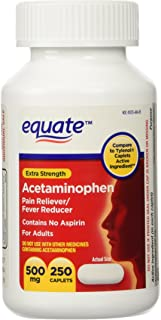 Equate Extra Strength Acetaminophen Twin-Pack 500mg, 500 tabs