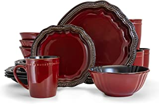 Elama Regency 16 Piece Luxurious Stoneware Dinnerware with Complete Setting for 4, 16pc