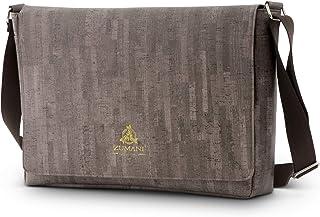 Laptop Shoulder Bags for Men, Brown, 15.75, Vegan Cork - Men's Crossbody Messenger Satchel Bag with Adjustable Strap for Travel, Office, Business - Stylish, Eco-Friendly, Water-Resistant Gear