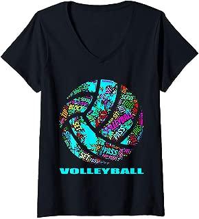 Womens volleyball sayings t shirt vector design jersey V-Neck T-Shirt