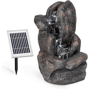 Kippeimer XL 84 cm Solar Wasser Spiel Garten Brunnen Deko Springbrunnen Zier Brunnen Garten Dekoration wahlweise mit LED Beleuchtung