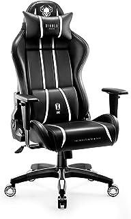 Diablo X-One 2.0 Silla Gaming Gamer Oficina Sillon de Ordenador Reposabrazos Ajustables Cuello/Cojín Lumbar Diseño Ergonómico (Negro-Blanco, XL)