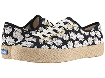 Keds Triple Kick Daisy (Black Twill) Women