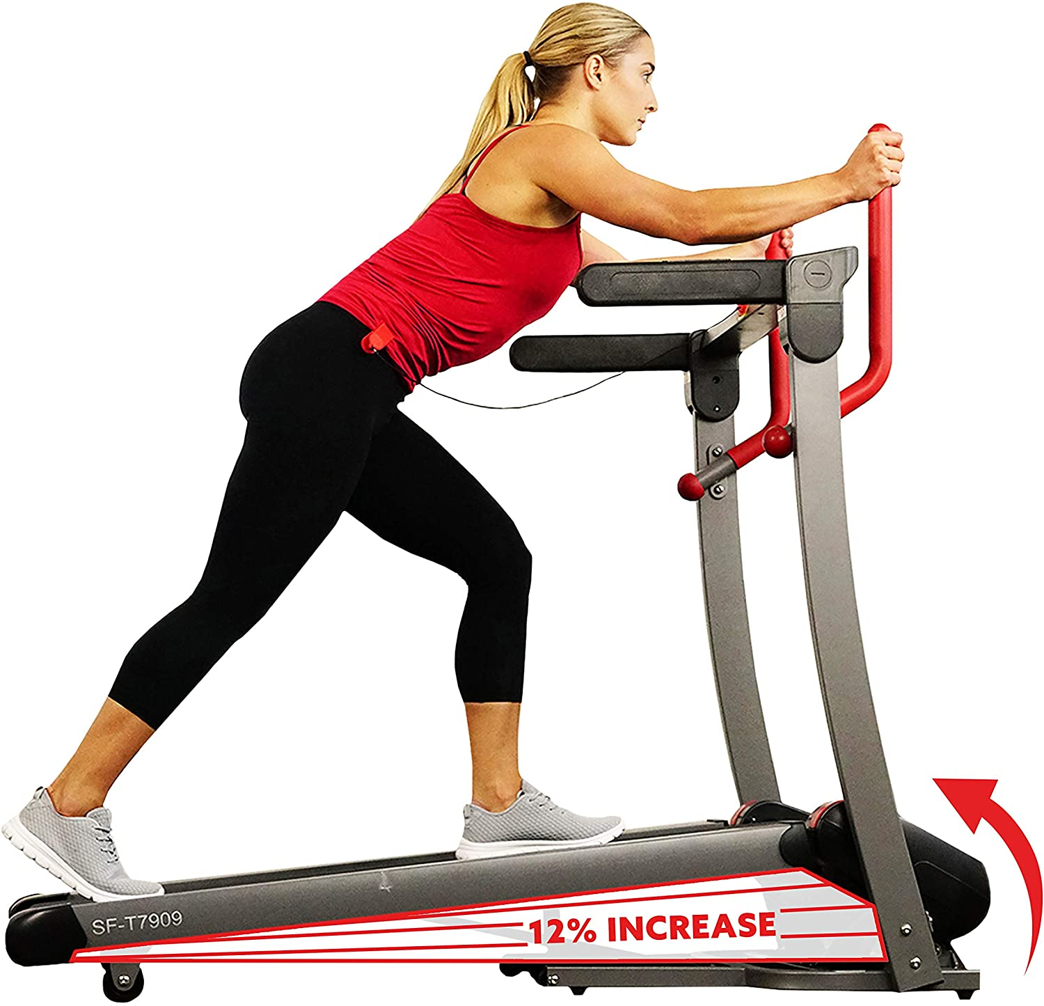 Sunny Health Product Fitness Folding Electric Incl Treadmill 25% OFF with Auto