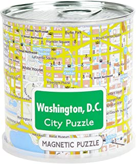 Washington D.C. - City Puzzle Magnets in premium tin can
