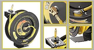Pentagon Tools 3/8 300PSI Retractable 100 Ft Air Hose & Reel Professional Grade