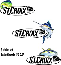 ST Croix Fishing Sticker Decal Set of 3 Great for Tackle Box Toolbox Sexy Pinup Girl Laptop Mirror USA