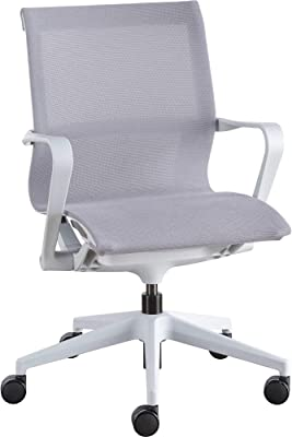 "Lorell Executive Mesh Mid-Back Chair, 38.5"" x 26.3"" x 26.3"", Gray"