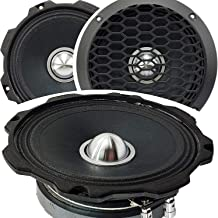 1x Gravity WZ6G Warzone Series 6.5-Inch 500 Watts Maximum Power Handling Mid-Range Coaxial Car Audio Loud Speaker 4 -Ohms ... photo