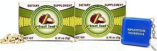 2 Pack Semilla de Brasil Brazil Seed Dietary Supplyment 60 Day Supply with Kplentish Moringa Measuring Tape 2 Meses de USO Autentica Semilla Fresca y Pura -3 Product Set