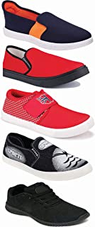 WORLD WEAR FOOTWEAR Sports Running Shoes/Casual/Sneakers/Loafers Shoes for Men Multicolor (Combo-(5)-1219-1221-1140-383-691)