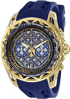 Technomarine Men's Technocell Stainless Steel Quartz Watch with Silicone Strap, Blue, 24 (Model: TM-318009)