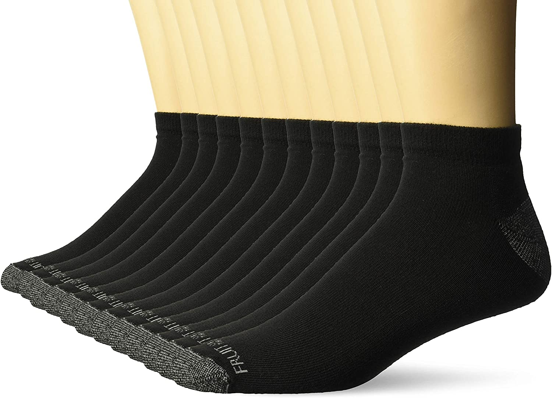 Fruit of the Loom mens Dual Defense Low Cut Socks 12 Pair