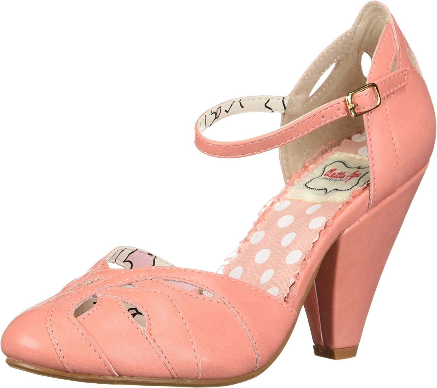 Bettie Page Women's BP403-Sally Pump