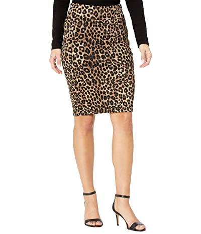 MICHAEL Michael Kors Petite Cheetah Pencil Skirt (Dark Camel) Women