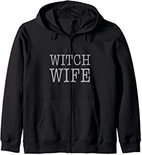 Cool Basic Witch Wife Zip Hoodie