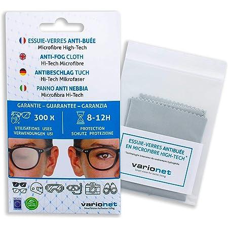 Essuie-verres anti buée VARIONET 15 X 18 cm Efficace 12h et 300 Utilisations - Chiffon Microfibre Chamoisine