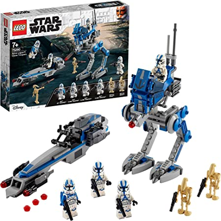 LEGO 75280 StarWars LesCloneTroopersdela501èmelégion et Marcheur at-RT