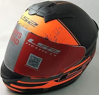 LS2 Helmets - Rookie - Combat - Matt Black Grey Orange - Single Mercury Visor Full Face Helmet - (Medium - 570 MM)