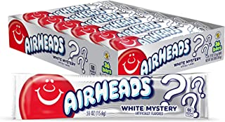 Airheads Candy, Individually Wrapped Full Size Bars for Stocking Stuffers, White Mystery, Gifts, Bulk Taffy, Non Melting, Party, 0.55 Ounce (Pack of 36)