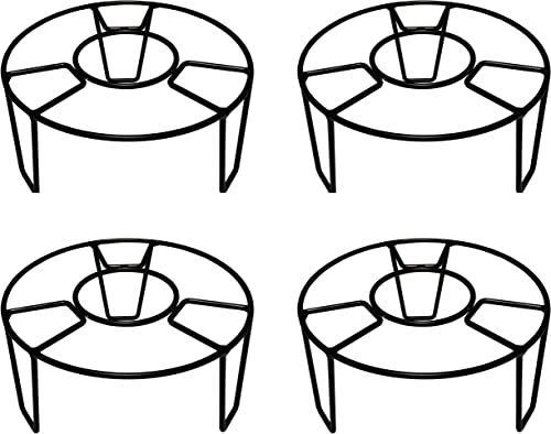 D&V ENGINEERING - Creative in innovation Metal Planter Stand/Pot Stand for Home/Garden Decor (22 cm-Ring Dia - Set of 4)