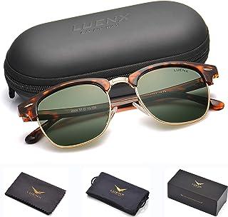 0d84640c526b2 Mens Semi Rimless Sunglasses Polarized Womens  UV 400 Protection