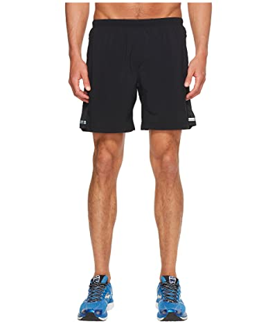 Brooks Sherpa 7 2-in-1 Shorts (Black) Men