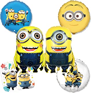 Minion Balloon Birthday Decorations - 6 Pack Set Of Despicable Me Minions Party Balloons