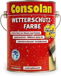 Consolan Wetterschutzfarbe 2,5 Liter, dunkelbraun Nr. 205