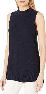 Amazon Brand - Daily Ritual Women's Soft Cotton Tape Yarn Sleeveless Tunic Sweater