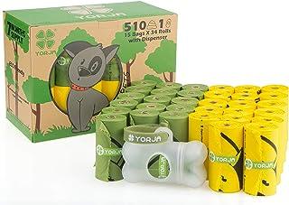 YORJA Bolsas para Excrementos de Perro con Dispensador,34 Ro