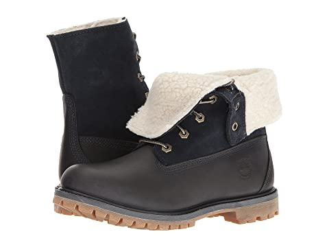 Timberland Authentics Teddy Fleece Fold-Down Womens Black/Black P228996JH Boots