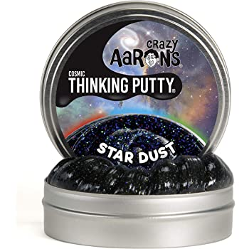 """Crazy Aaron's Thinking Putty 4"""" Tin - Cosmic Star Dust - Multi-Color Sparkle Glow Putty, Soft Texture - Never Dries Out"""