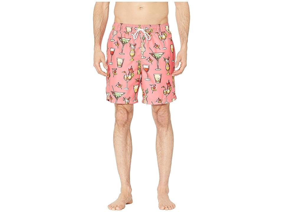 U.S. Surf Club Cocktails Swim Shorts (Pink Coral) Men