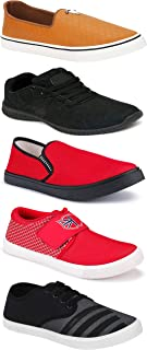 WORLD WEAR FOOTWEAR Sports Running Shoes/Casual/Sneakers/Loafers Shoes for Men Multicolor (Combo-(5)-1219-1221-1140-725-772)