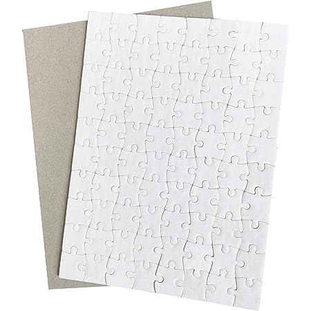 Sublimation Puzzle Blanks 10 Sets Sublimation Blanks Jigsaw Puzzles A5 Heat Press Blanks Puzzle Pieces 80pcs