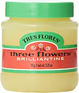 Tres Flores Brilliantine Solid Pomade, 3.25 oz