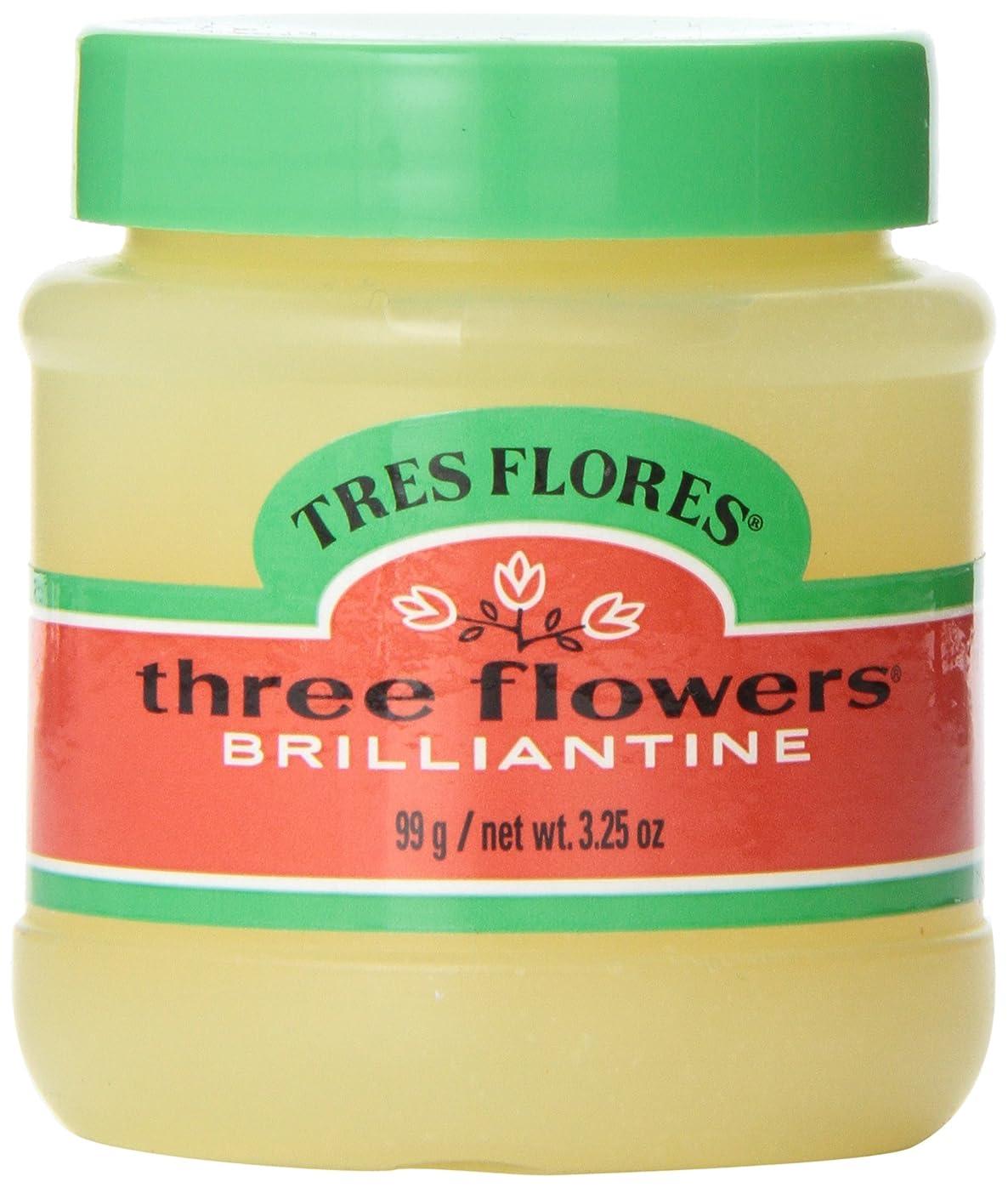 ジョセフバンクスアクティブ怒っているThree Flowers Brilliantine Pomade Solid 3.25oz