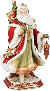 Fitz and Floyd Damask Santa Figurine, 19-Inch, Holiday Red