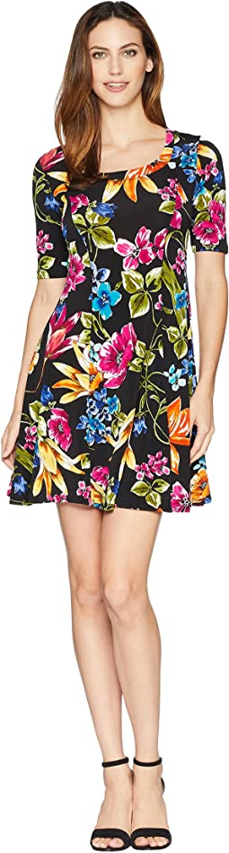 Botanica Print A-Line Dress