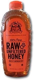 Nature Nate's 100% Pure, Raw and Unfiltered Honey, 3.12 Pound