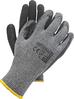 12 pares de guantes de trabajo, reecubrimiento de látex,