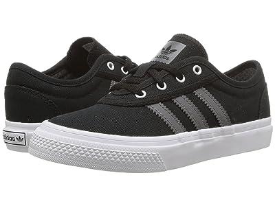 adidas Skateboarding Adi-Ease J (Little Kid/Big Kid) (Black/Grey Four/White) Skate Shoes