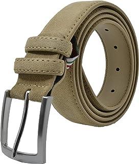 Gresel Cintura Scamosciata Uomo e Donna, Vera Pelle, Made in Italy, Accorciabile
